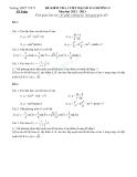 Đề kiểm tra 1 tiết Toán 11 - Đạo hàm của hàm số