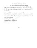 Đề kiểm tra 1 tiết Toán 11 - Vecto và quan hệ vuông góc trong không gian (Kèm đáp án)