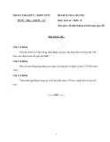 Đề kiểm tra môn Lịch sử lớp 12 - Trung tâm GDTX-HNDN TPTV
