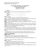 Đề thi học sinh giỏi cấp huyện môn Giáo dục công dân lớp 9 năm 2012-2013 - Phòng GD&ĐT huyện Buôn Đồn