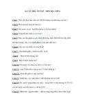 Câu hỏi ôn tập môn Địa lý lớp 6