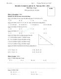 Bài kiểm tra định kỳ giữa kỳ II - Năm học 2012 - 2013  Môn Toán - Lớp 1