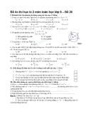 Đề ôn thi học kì 2 môn toán học lớp 9 – Đề 20