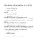 Đề ôn thi học kì 2 môn toán học lớp 9 – Đề 13