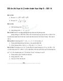 Đề ôn thi học kì 2 môn toán học lớp 9 – Đề 14