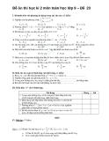 Đề ôn thi học kì 2 môn toán học lớp 9 – Đề 23