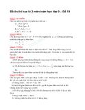 Đề ôn thi học kì 2 môn toán học lớp 9 – Đề 18