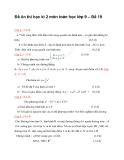 Đề ôn thi học kì 2 môn toán học lớp 9 – Đề 19