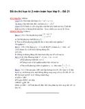 Đề ôn thi học kì 2 môn toán học lớp 9 – Đề 21