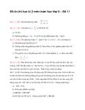 Đề ôn thi học kì 2 môn toán học lớp 9 – Đề 11