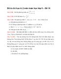 Đề ôn thi học kì 2 môn toán học lớp 9 – Đề 16