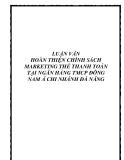 Luận văn tốt nghiệp: Hoàn thiện chính sách Marketing thẻ thanh toán tại ngân hàng TMCP Đông Nam Á chi nhánh Đà Nẵng
