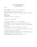 ĐỀ THI THỬ TỐT NGHIỆP MÔN TOÁN  LỚP 12 ĐỀ 36