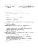 Đề thi thử tốt nghiệp THPT môn toán trường Lương Thế Vinh đề số 21