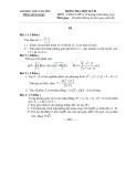 Đề  thi học kì 2 toán 12 nâng cao  trường THPT chuyên Trần Hưng Đạo