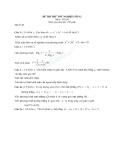 ĐỀ THI THỬ TỐT NGHIỆP MÔN TOÁN  LỚP 12 ĐỀ 40