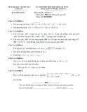 Đề thi  học sinh giỏi Toán lớp 12 - Sở GD&ĐT Long An