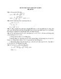 Đề ôn thi tuyển sinh môn toán vào lớp 10 THPT - Đề số 10