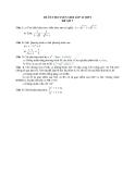Đề ôn thi tuyển sinh môn toán vào lớp 10 THPT - Đề số 7