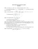 Đề ôn thi tuyển sinh môn toán vào lớp 10 THPT - Đề số 9