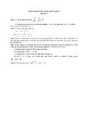 Đề ôn thi tuyển sinh môn toán vào lớp 10 THPT - Đề số 5