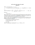 Đề ôn thi tuyển sinh môn toán vào lớp 10 THPT - Đề số 22