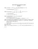 Đề ôn thi tuyển sinh môn toán vào lớp 10 THPT - Đề số 1