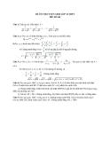 Đề ôn thi tuyển sinh môn toán vào lớp 10 THPT - Đề số 46