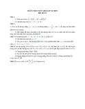 Đề ôn thi tuyển sinh môn toán vào lớp 10 THPT - Đề số 23