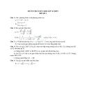 Đề ôn thi tuyển sinh môn toán vào lớp 10 THPT - Đề số 3
