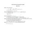 Đề ôn thi tuyển sinh môn toán vào lớp 10 THPT - Đề số 11
