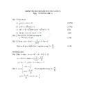 Đề kiểm tra 1 tiết Toán 11 - Chương phương trình lượng giác (Kèm đáp án)