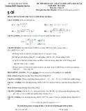 Đề thi khảo sát chất lượng giữa học kì 2 môn toán lớp 11 trường THPT Nguyễn Văn Cừ