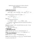 Đề kiểm tra khảo sát chất lượng học kì 2 môn toán lớp 11