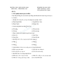 Đề thi học kỳ II môn âm nhạc 8 - Trường THCS Trần Hưng Đạo