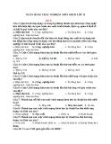 Ngân hàng câu hỏi trắc nghiệm môn giáo dục công dân lớp 11 bài 6