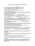 Ngân hàng câu hỏi trắc nghiệm môn giáo dục công dân lớp 11 bài 12