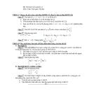 Đề thi học kì 1 môn toán lớp 12 - Đề số 13 - Có đáp án