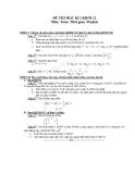 13 Đề thi HK1 môn Toán lớp 12 - Có đáp án