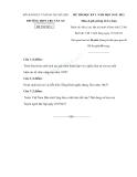 Đề thi học kì 1 môn lịch sử  12 sở GD và ĐT Hà Nội