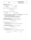 Đề thi thử học kì 2 môn toán lớp 11