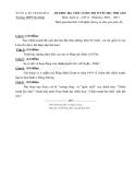 Đề thi học sinh giỏi Sử 12 Trường THPT Ba Đình
