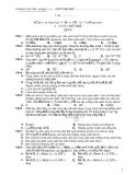 Kiểm tra học kỳ 2 vật lý 11