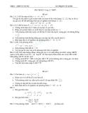 9 Đề thi HK1 môn Toán 12 - THPT Tà Nung - Có đáp án