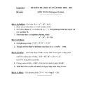 Đề  thi học kì 1 môn Toán lớp 12 - Đề số 9