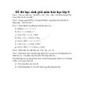 Đề thi học sinh giỏi môn Hóa 8