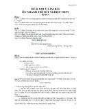 Đề ôn thi tốt nghiệp THPT môn ngữ văn năm 2013 Đề 6