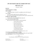 Đề tham khảo thi tốt nghiệp THPT năm 2012 môn Ngữ văn đề số 18