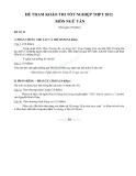 Đề tham khảo thi tốt nghiệp THPT năm 2012 môn Ngữ văn đề số 22