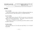 Đề thi tốt nghiệp THPT môn Ngữ văn (2012 - 2013) trung tập GDTX Đình lập